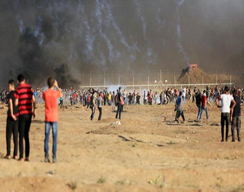 غزة: 11 جريحا جراء اعتداء جيش الاحتلال على مسيرة العودة