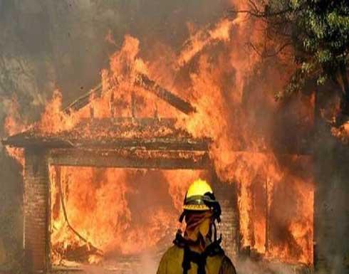 شاهد : الاحتلال يجلي 400 عائلة إثر حريق في مستوطنة بالقدس