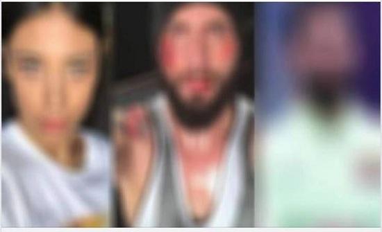 فيديو  نجم شهير يتحرش بزوجة مطرب امام عينه ويكسر انفه