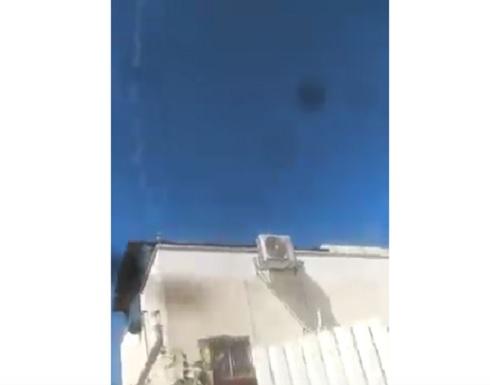 شاهد : لحطة  إطلاق رشقة من الصواريخ على مستوطنات إسرائيلية