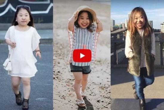 بالفيديو.. للجمال عنوان.. عارضة ومصممة أزياء من الأقزام