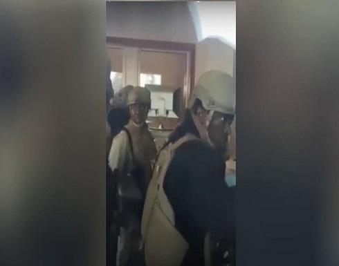 مشاهد للتأهب الأمني داخل سفارة أميركا في بغداد