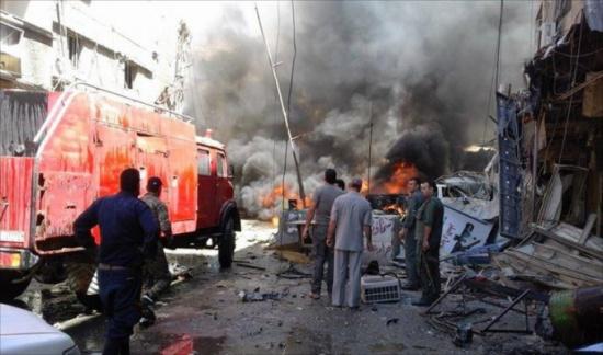 انفجار وسط دمشق وأنباء عن خسائر بشرية