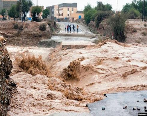 شاهد.. فيضانات تضرب إقليم تارودانت في المغرب وتتسبب في وفاة 7 أشخاص
