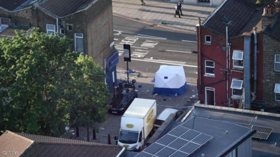 أول صور للشاحنة المستخدمة في هجوم المسجد بلندن