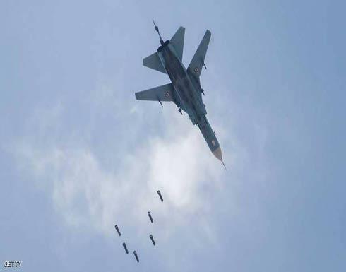 بعد شطر الغوطة.. قصف جوي يوقع عشرات القتلى