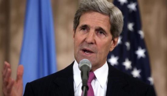 كيري  : على المعارضة السورية وقف اطلاق النار وانا لا اعد بشئ
