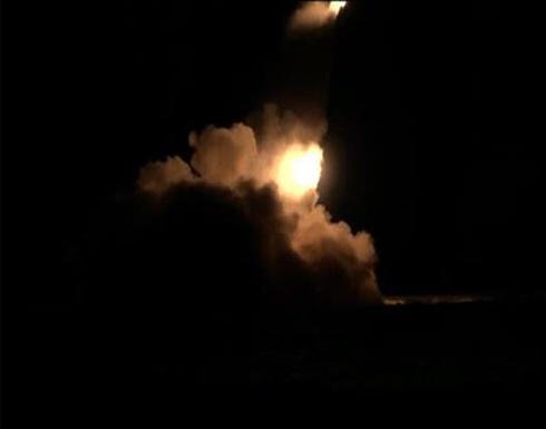 شاهد.. التحالف يقصف مخازن أسلحة وذخائر حوثية شرق صنعاء