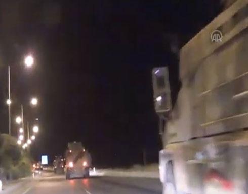 شاهد : الجيش التركي يرسل المزيد من التعزيزات العسكرية إلى الحدود مع سوريا