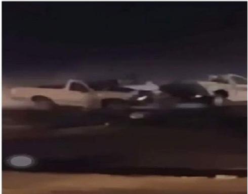 كارثة في السعودية بسبب عملية تفحيط .. بالفيديو