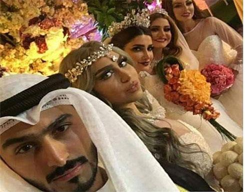 رجل عربي يتزوج 4 نساء في ليلة واحدة ليثبت لطليقته انه جذاب .. بالصور