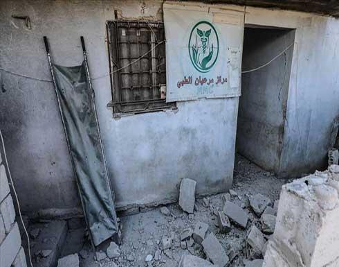 إدلب.. مقتل امرأة وجرح طفل في قصف للنظام على مركز طبي