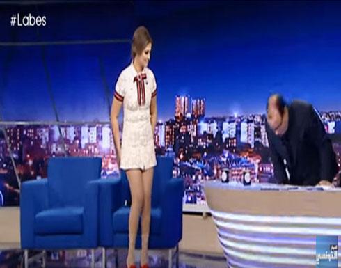 فيديو/ممثلة تونسية تثير ضجة كبيرة على الفيسبوك بسبب لباسها الفاضح في برنامج تلفزي..