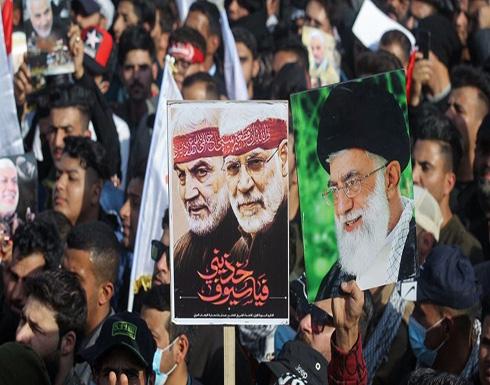 موالو الحشد يبكون سليماني و استعراض قوة في بغداد .. شاهد