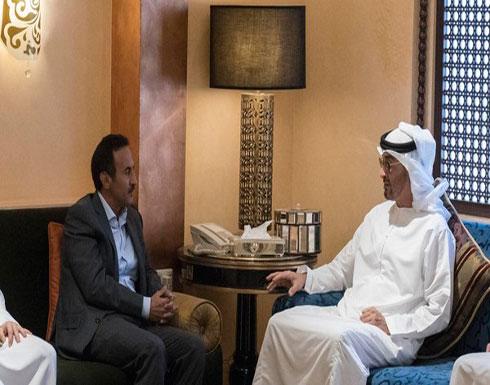 بالصور.. محمد بن زايد يعزي نجل الرئيس اليمني السابق