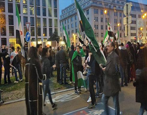بروكسل.. مظاهرة منددة بهجمات النظام السوري وروسيا على إدلب
