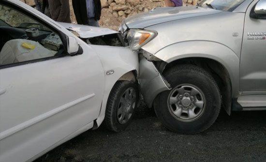 وفاة وأصابة في حادث تصادم في جرش