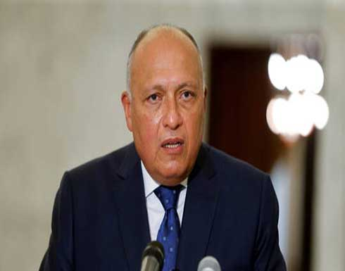 شكري: نحاول مساعدة لبنان في الخروج من أزمته ونتمنى تشكيل الحكومة بأسرع وقت