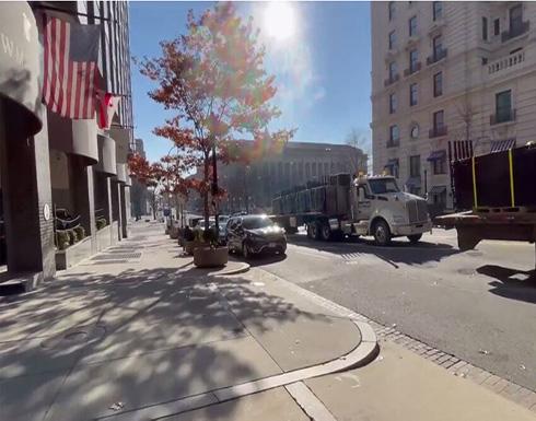 شاهد : حواجز حديدية حول المباني والفنادق القريبة من البيت الأبيض والكونغرس