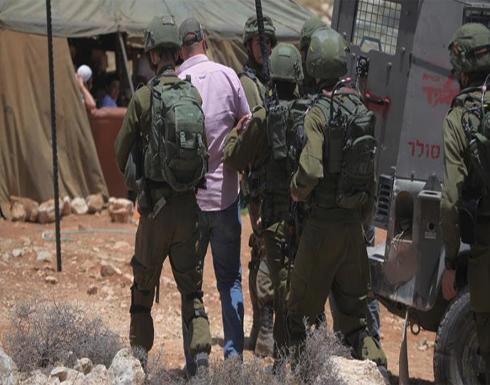 الجيش الإسرائيلي يعتقل 4 فلسطينيين بالضفة الغربية