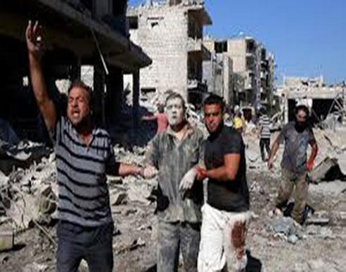 """شاهد : غارات """"روسية"""" على محافظة إدلب وموسكو تنفي ضلوعها"""