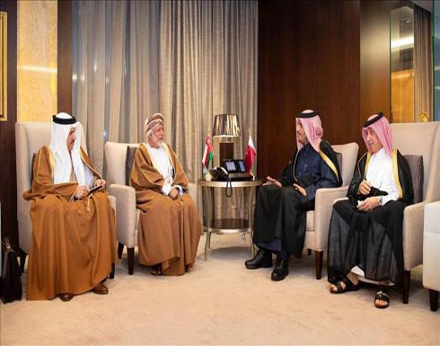 """وزيرا خارجية قطر وعمان يبحثان بالدوحة مسيرة """"مجلس التعاون"""""""