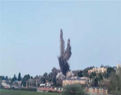 شاهد : تفجير قنبلة من مخلفات الحرب العالمية الثانية في مدينة إنجليزية