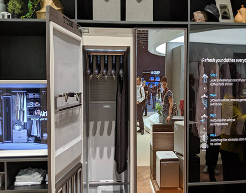 «AirDresser».. خزانة ذكية من «سامسونغ» تعقم و«تفرد» الملابس