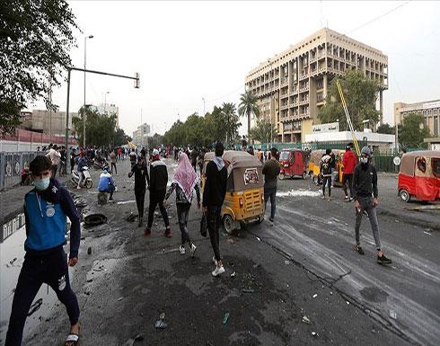 بالفيديو : مقتل متظاهر وإصابة 12 في اشتباكات ببغداد