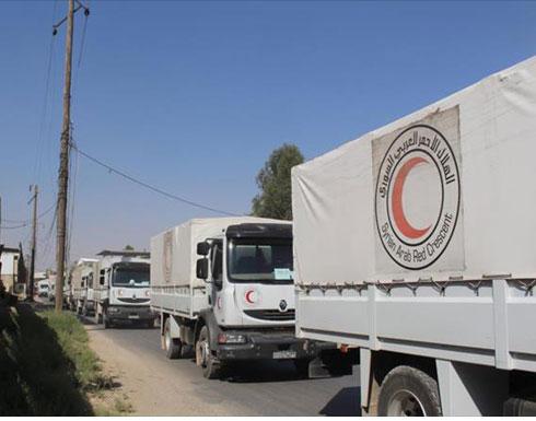 طيران النظام السوري قصف قافلة إغاثية في حلب