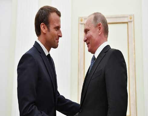 ماكرون يطلع بوتين على نتائج مباحثاته مع زيلينسكي في باريس