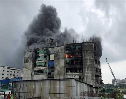 شاهد : 52 قتيلا بحريق مصنع للأغذية في بنغلاديش