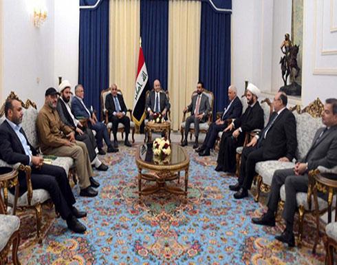 الرئاسات الثلاث وقادة الحشد الشعبي: سيادة العراق خط أحمر