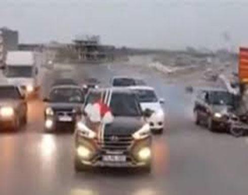 في بلد عربي : حادث مروع خلال زفة عروس (فيديو)