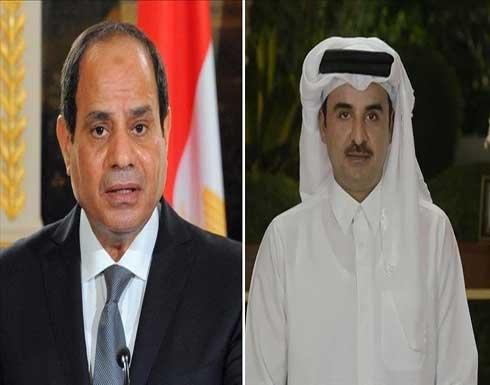 الأول منذ المصالحة الخليجية.. أمير قطر يهاتف السيسي