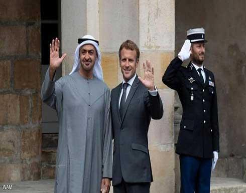 محمد بن زايد و ماكرون يبحثان في باريس العلاقات بين البلدين