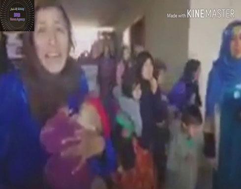 شاهد : الجيش التركى يحرر نساء وأطفال عرب من السجون الكرديه