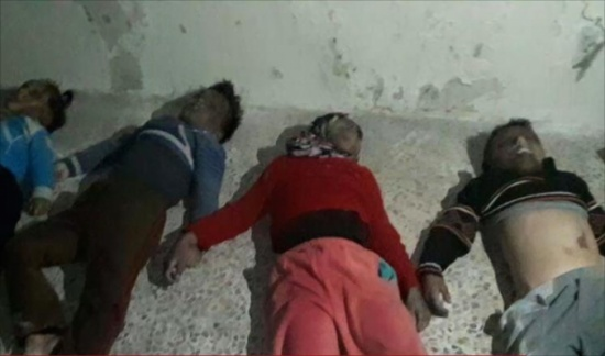 صور لمجزرة بحق عائلة ارتكبها النظام في حلب