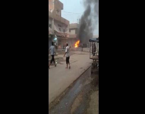 شاهد : جرحى في تفجير دراجة نارية مفخخة وسط مدينة رأس العين السورية
