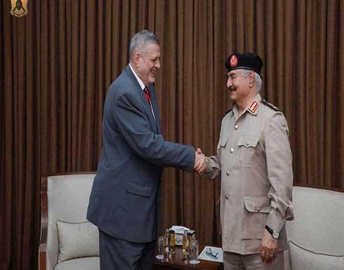 المبعوث الأممي يلتقي حفتر.. مشدداً على إجراء الانتخابات