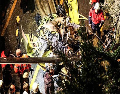بالفيديو : استشهاد 4 عسكريين في حادث سقوط المروحية