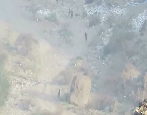 شاهد : فرار جماعي للحوثي أمام الجيش اليمني في نهم