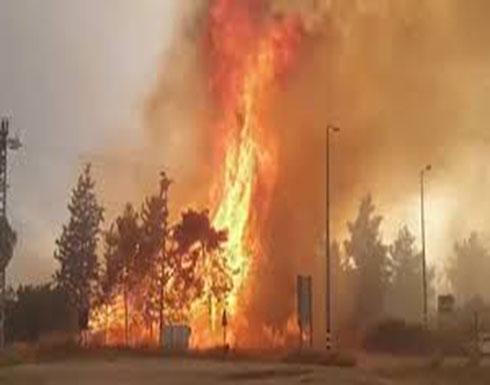 شاهد : حرائق في إسرائيل وإجلاء عشرات الأسر