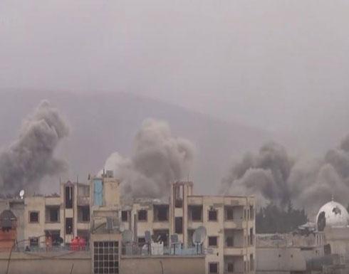 المعارضة تتهم النظام بقصف الغوطة بغازات سامة