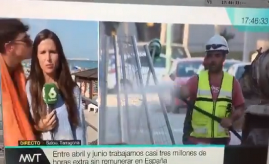 فيديو| مراسلة تتعرّض للتحرّش على الهواء مباشرة ..!