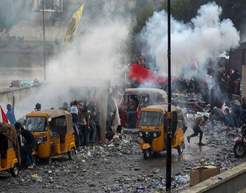 بالفيديو : مظاهرات العراق.. قنابل الغاز تفتك بالمتظاهرين وإدانة دولية