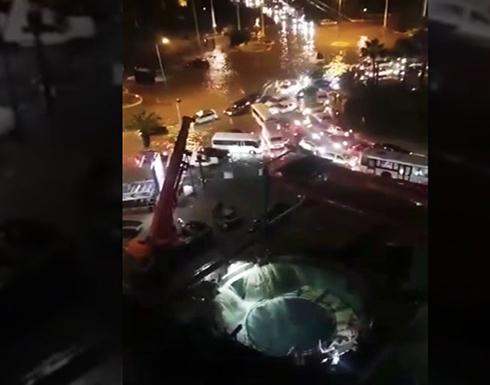 شاهد: فيضانات الدار البيضاء تتسبب في كوارث