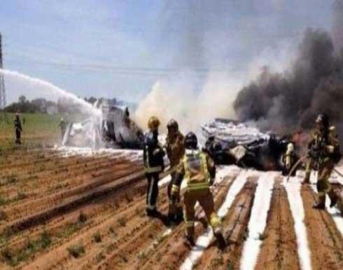 تحطم طائرة إسبانية خلال الاحتفالات بالعيد القومي