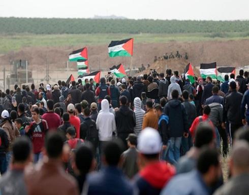 """عشرات الإصابات بمسيرات العودة بجمعة """"غزة والضفة"""""""