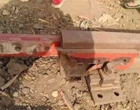 حادث قطار طوخ.. وصلات خشبية للربط بين القضبان ومسؤول: مهندس الصيانة من أمر بوضعها
